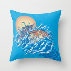 The Lost Adventures of Captain Nemo Throw Pillow