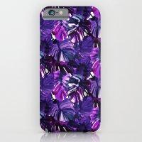 Palm Leaf Blue Purple iPhone 6 Slim Case