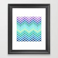Dot Chevron: Blue Purple Framed Art Print