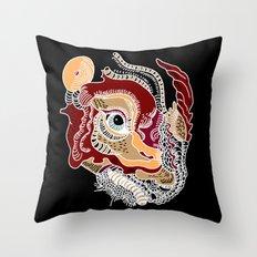 White Rhino Dinosaur Throw Pillow