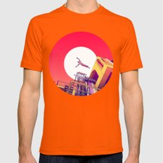 Icarus Mens Fitted Tee Orange SMALL