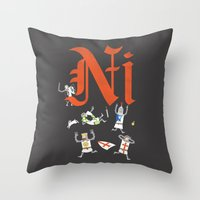 Ni! Throw Pillow