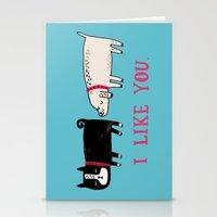 I Like You. Stationery Cards