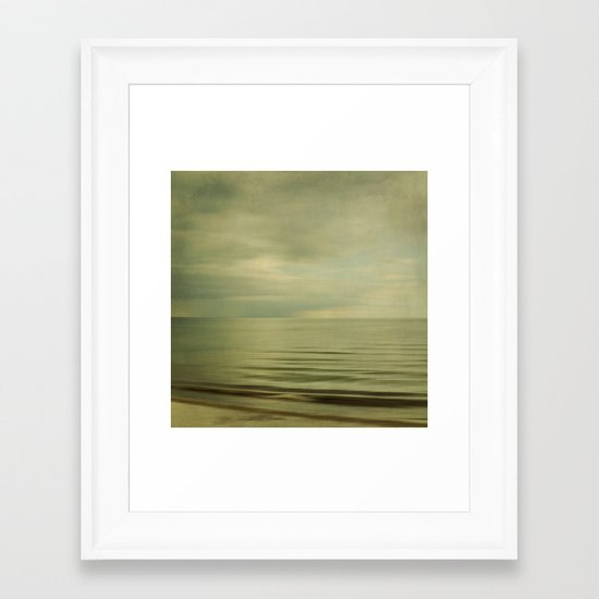 sea square XI Framed Art Print