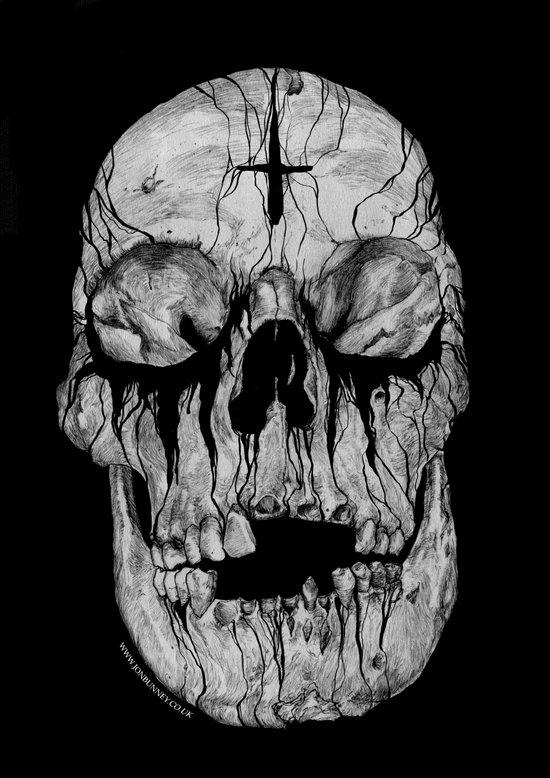 Black blooded Art Print