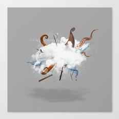 Dust-Ups: Viking vs Kraken Canvas Print