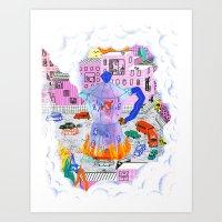 Coffee & City Art Print