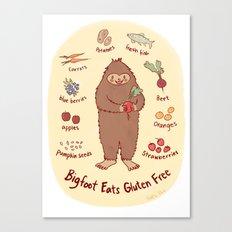 Bigfoot Eats Gluten Free Canvas Print
