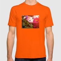 Bed flower Mens Fitted Tee Orange SMALL