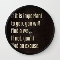 If It Is Important To Yo… Wall Clock