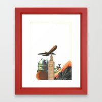 Leaving MoMo City Framed Art Print