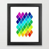 Tetrahedral Rainbow Framed Art Print