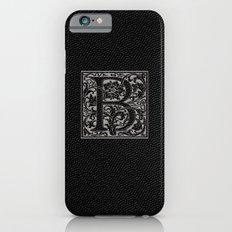 silver flourish monogram - B iPhone 6 Slim Case