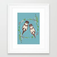 My Significant Otter Framed Art Print