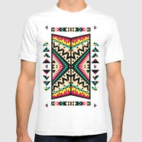 Tribal Mens Fitted Tee White SMALL