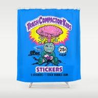 TRASH COMPACTOR KIDS Shower Curtain