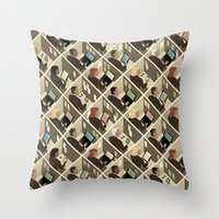 Cubicles Throw Pillow