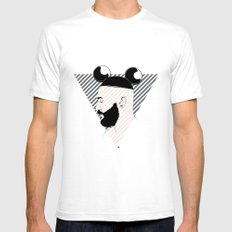 Beard01 Mens Fitted Tee White SMALL
