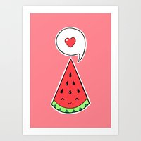 Watermelon 2 Art Print