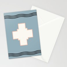 Cross tribal wave Stationery Cards