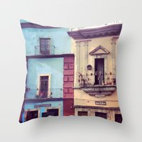 Mexican Houses Throw Pillow