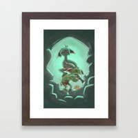 Goblins Drool, Fairies Rule! - Cringe and Cower Framed Art Print