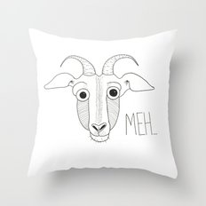Meh Goat Throw Pillow