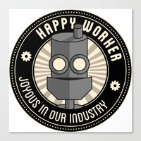 Happy Worker Canvas Print