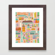 Going to San Francisco Framed Art Print