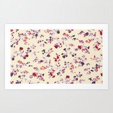 floral vines Art Print