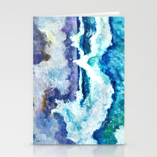Stormy Sea Stationery Card