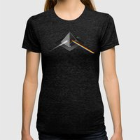 Pink Floyd - Dark Side O… Womens Fitted Tee Tri-Black SMALL