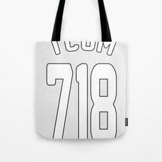 TCOM 718 AREA CODE JERSEY Tote Bag