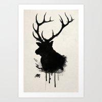 Elk - Deer Art Print