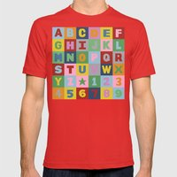 Alphabet Mens Fitted Tee Red SMALL