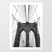 Below the Bridge Art Print