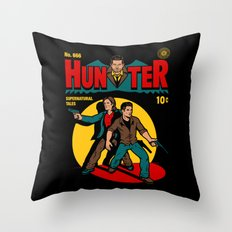 Hunter Comic Throw Pillow
