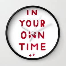 In Your Own Time Wall Clock