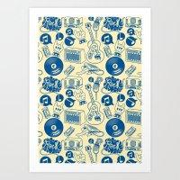 Musical Monsters Art Print