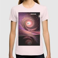 QUASAR. Womens Fitted Tee Light Pink SMALL