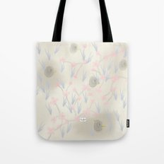 Sakura Love Birds Tote Bag