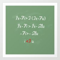 Math love Art Print