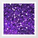 Violet Bling Art Print