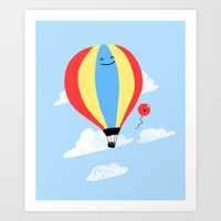 Balloon Buddies Art Print