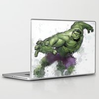 hulk Laptop & iPad Skins featuring Hulk  by Isaak_Rodriguez