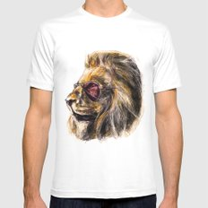 LionO SMALL Mens Fitted Tee White