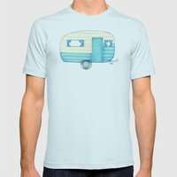 Caravan Palace Mens Fitted Tee Light Blue SMALL