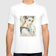 Fashion  Mens Fitted Tee White SMALL