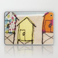 Embroidered Beach huts Laptop & iPad Skin
