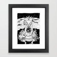 Tiki lunch Framed Art Print